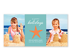 Starfish Banner Photo Christmas Cards
