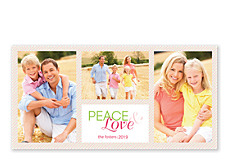Peace and Love Christmas Photo Cards