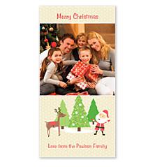Santa and Rudolph Card