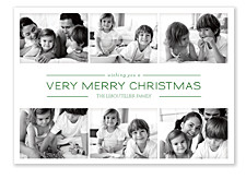 Picture Box Green Holiday Photo Cards