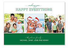 Good Tidings Green Christmas Photo Cards