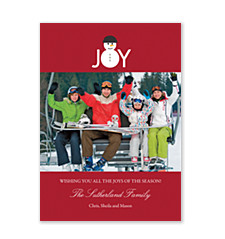 Joyful Snowman Holiday Photo Cards