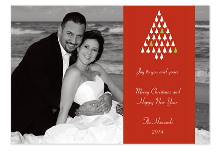 Graphic Tree Holiday Photo Cards