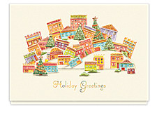 Whimsical City Christmas Cards