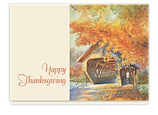 Bridge in Autumn Thanksgiving Cards