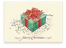 Merry Christmas Gift Box Cards