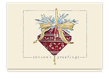 Burgundy Jewel Christmas Cards