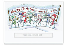 Frosty Merry Christmas Die-Cut Holiday Cards