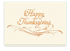 Simply Thanksgiving Holiday Cards