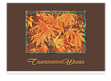 Glittering Maple Leaves Cards
