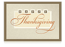 Elegant Thanksgiving Wishes Cards