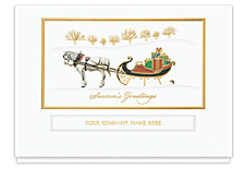 Horse & Sleigh Greetings Cards