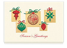 Elegant Holiday Ornaments Cards