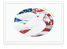 Patriotic Dove Peaceful Holiday Cards