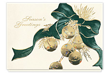 Golden Sleigh Bells Holiday Cards