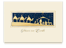 Golden Magi Peaceful Christmas Cards