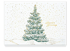 Seasons Greetings Sparkling Evergreen Cards