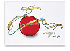 Bejewelled Ornament Seasons Greetings Cards