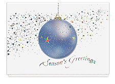 Dazzling Ornament Christmas Cards