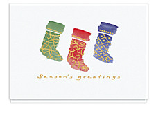 Holiday Stockings Seasons Greetings Cards