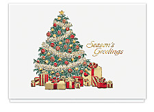 Garland Tree Christmas Cards