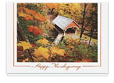 Covered Bridge Thanksgiving Cards