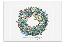 Frosted Wreath Seasons Greetings Cards