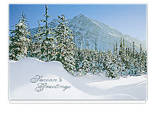 Glittering Pines Seasons Greetings Cards