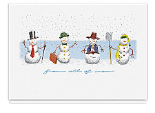 Greetings From All of Us Snowmen Cards