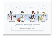 Snowmen Greetings Die-Cut Holiday Cards