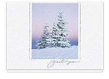 Glittering Sunset Christmas Cards