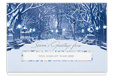City Snowfall Die-cut Seasons Greeting Cards