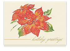 Poinsettia Greetings Holiday Cards