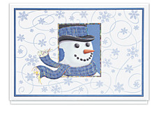 Snowman Swirl Holiday Greeting Cards