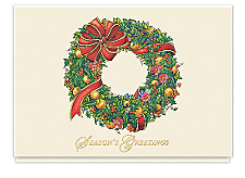 Bountiful Wreath Seasons Greetings Cards