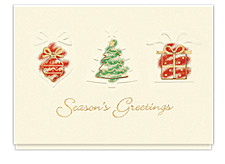 Holiday Trio Seasons Greeting Cards