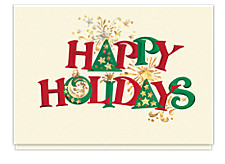 Holiday Fanfare Happy Holidays Cards
