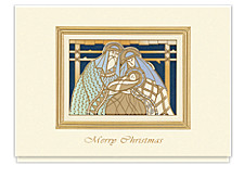 Peaceful Nativity Merry Christmas Cards
