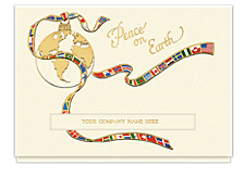 A World At Peace Die-Cut Holiday Cards