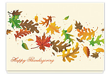 Thanksgiving Leaves Holiday Cards