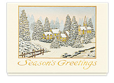 Village Glow Holiday Cards