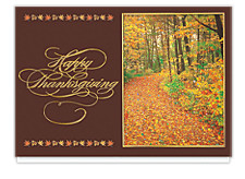 Shimmering Autumn Splendor Holiday Cards