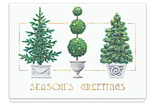 Glistening Topiary Holiday Cards
