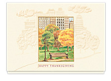 Thanksgiving in the Park Holiday Cards
