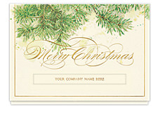 Glittering Christmas Pines Holiday Cards