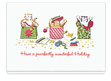 Purrfect Packages Christmas Cards