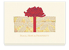 Golden Box of Wishes Holiday Cards