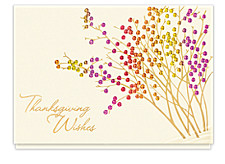 Thanksgiving Berry Garden Holiday Cards