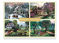 Currier and Ives Four Seasons Montage Card
