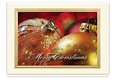 Glittering Ornament Holiday Card